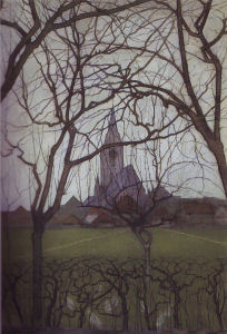 Mondrian A61 Dorpskerk (Village Church): St. Jacob's Church, c.1898
