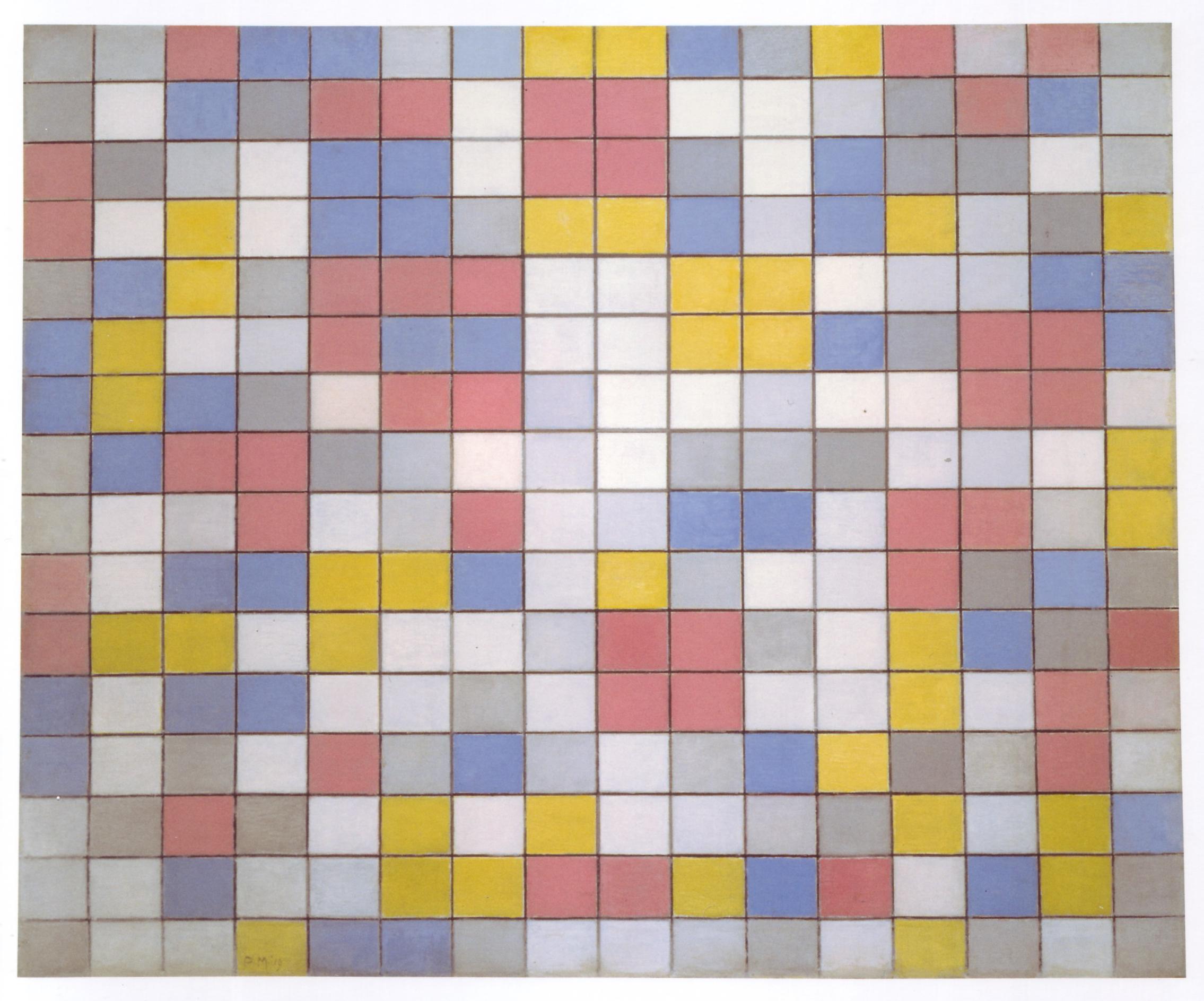 Composizione: piani di colore chiaro con grey contorni di piet mondrian famous painting composizione