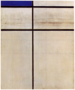 Mondrian B250 Composition with Double Line and Blue (unfinished), 1934
