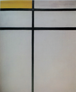 Mondrian B251 Composition with Double Line and Yellow (unfinished), 1934