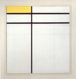 Mondrian B253 Composition A with Double Line and Yellow, 1935