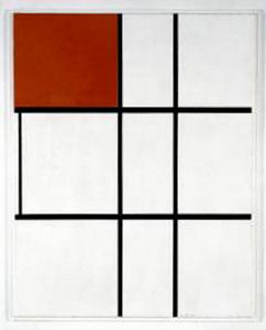 Mondrian B254 Composition B (No.II) with Red, 1935
