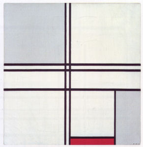 Mondrian B255 Composition (No.1) Gris-Rouge, 1935