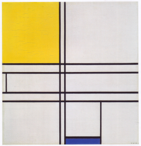 Mondrian B256 Composition (No.II) Blue-Jaune, 1935
