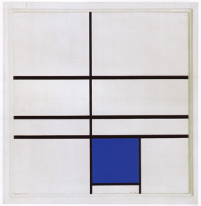 Mondrian B259 Composition with Double Line and Blue, 1935