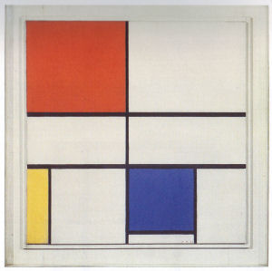 Mondrian B261 Composition C (No.III) with Red, yellow and Blue, 1935