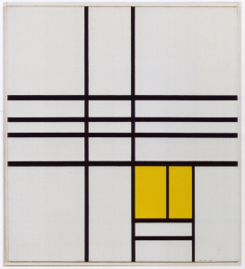 Mondrian B264 Composition with Yellow, 1936