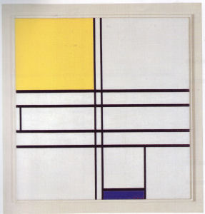 Mondrian B267 Composition in White, Blue and Yellow, 1936
