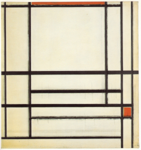 Mondrian B278 Composition of Lines with Red (unfinished), 1937