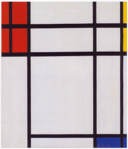 Mondrian B284 Composition of Red, Blue, Yellow and White, 1939