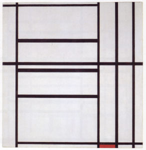 Mondrian B292 Composition No.1 with Grey and Red, 1938