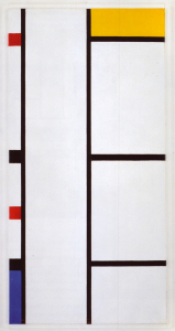 Mondrian B306 Composition with Red, Yellow and Blue, 1942