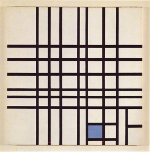 Mondrian B309 Composition No.12 with Blue, 1942