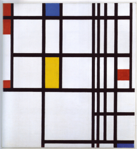 Mondrian B310 Composition with Red, Blue and Yellow, 1942