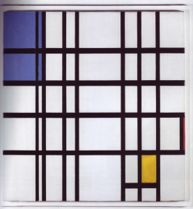 Mondrian B311 Composition with Blue, Red and Yellow, 1937/42