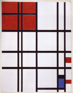 Mondrian B312 Composition No.7 with Red and Blue 1937/1942