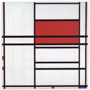 Mondrian B313 Composition No.4 with Red and Blue, 1938/1942