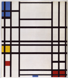 Mondrian B314 Composition No.5 with Blue, Yellow and Red, 1942