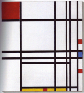 Mondrian B315 Composition No.8 with Red, Blue and Yellow, 1939(?)/1942