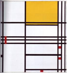 Mondrian B316 Composition No.9 with Yellow and Red, 1942