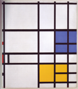 Mondrian B318 London, with Blue, Red and Yellow, 1940/1942