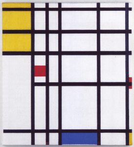 Mondrian B320 with Yellow, Red and Blue, 1937-43