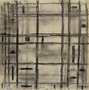 Mondrian B366 Study I for Broadway Boogie Woogie