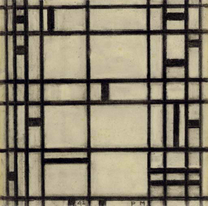 Mondrian B367 Study II for Broadway Boogie Woogie