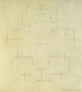 Mondrian B86 Study for Composition in Colour, 1916-17