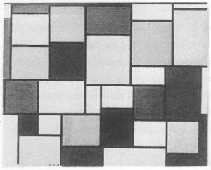 Mondrian B93 Composition with Colour Planes and Grey Lines 2, 1918