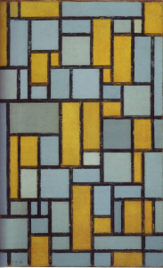 Mondrian B95 Composition with Grid, 1918