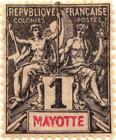 Mayotte 1892 SG1 Sc1