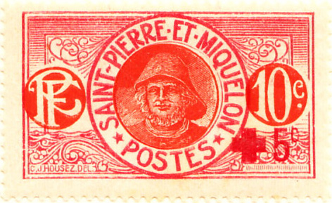 St. Pierre and Miquelon 1915 SG107 Sc-B1