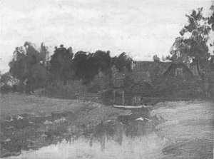 Mondrian A19 Brook with Sluice near Winterswijk, c.1891-93