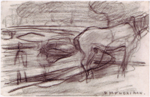 Mondrian A200 Horse on the Bank, c.1900