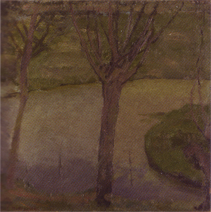 Mondrian A217 Irrigation Ditch with Two Willows, c.1900