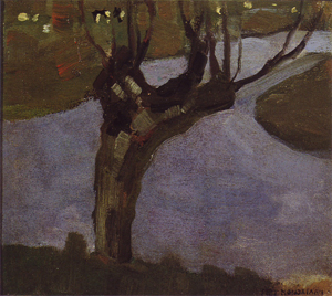 Mondrian A218 Irrigation Ditch with Mature Willow, c.1900