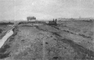 Mondrian A220 Polder Landscape with Irrigation Ditch and Fence, 1900-01