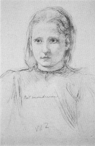 Mondrian A27 Head of a Girl, c.1896