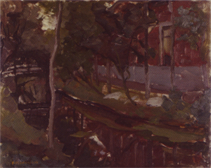 Mondrian A299 Curved Canal with Farm Building at Right, c.1905