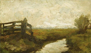 Mondrian A36 Irrigation Ditch with Wood Gate at Left, c.1894-95