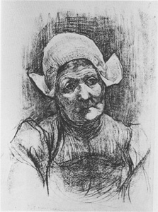 Mondrian A50 Head of Farm Woman with Polkamuts, c.1899