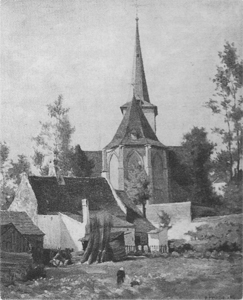 Mondrian A5 Church seen from the Rear, c.1890-92
