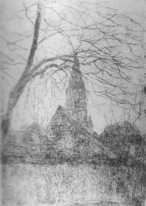 Mondrian A60 St. Jacob's Church, Etching, c.1898