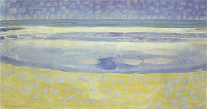 Mondrian A694 Sea toward Sunset, 1909