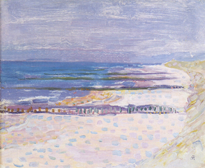 Mondrian A697 Beach with Five Piers at Domburg, 1909
