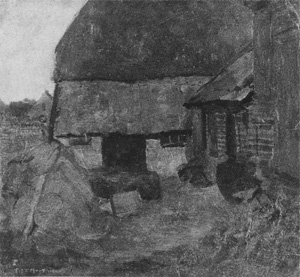 Mondrian A73 Farmyard in the Achterhoek, 1897-99