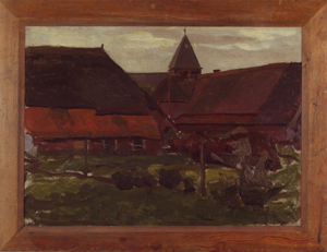 Mondrian A83 Farm Buildings in an Achterhoek Village, c.1898-99