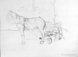 Mondrian A84 Horse and Cart: Study, c.1899