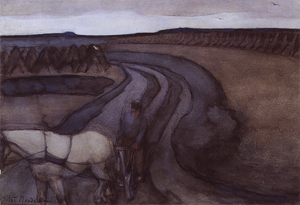 Mondrian A85 Aan den Arbeid (At Work): Op Het Land (In the Fields), c.1899